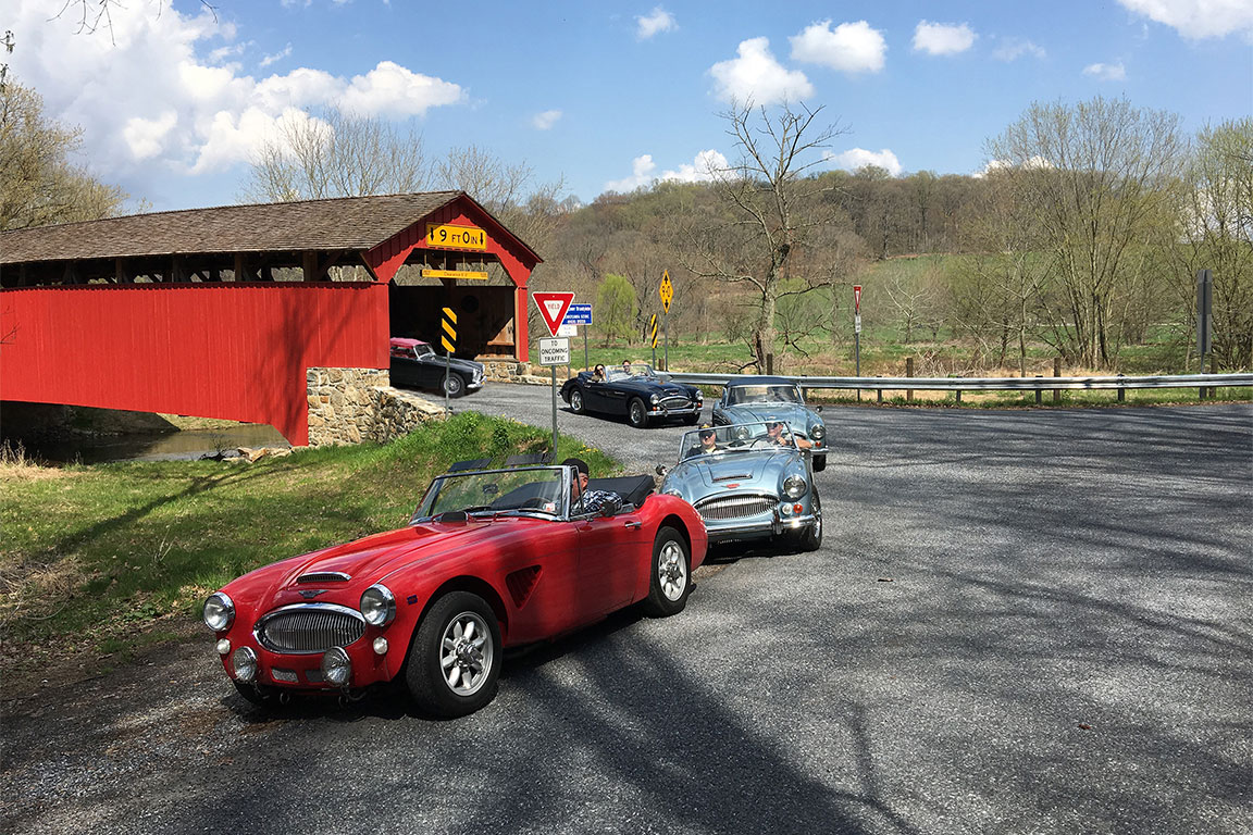 Brandywine Region has plotted a beautiful rallye route through the Pennsylvania countryside.