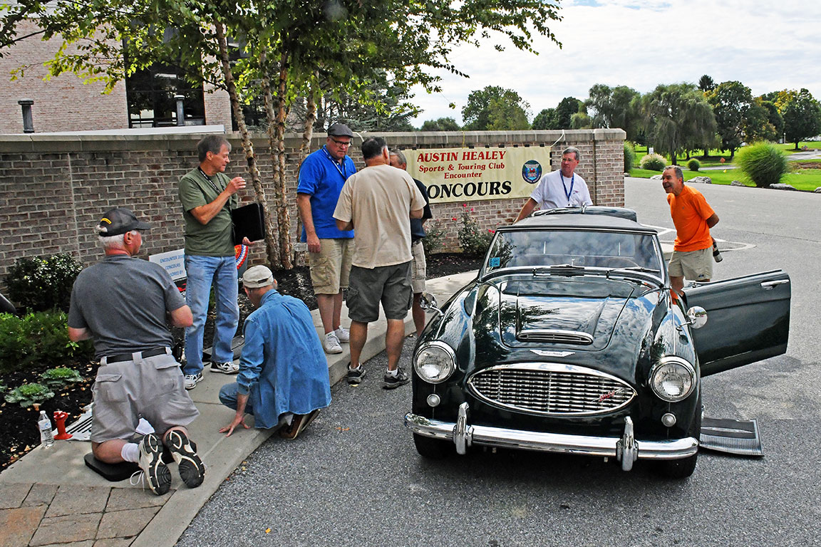 Always a lot to learn as owners put their prized Healeys before the Concours judges at Encounter.